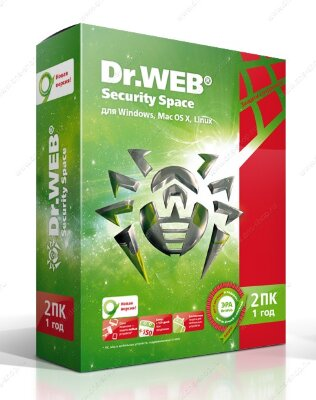 Dr.Web Security Space 2 ПК/1 год 
