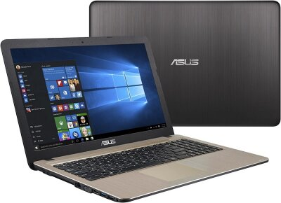 "НОУТБУК ASUS X541NA-GQ245T (90NB0E81-M04050) BLACK 15.6"" (1366x768 Пикс.)/ Cel-N3350(1.1Ghz)/ 4Gb/ 500Gb/ Intel GMA/ нет DVD/ W10/ Black"